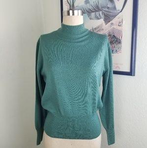 Vintage Max Mara Virgin Wool Green Blue Medium